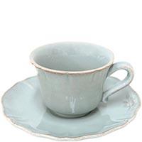 Набор из 6 чайных чашек с блюдцами Costa Nova Alentejo голубого цвета, фото