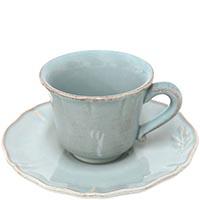 Набор из 6 кофейных чашек с блюдцами Costa Nova Alentejo голубого цвета, фото