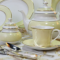Чайный набор Deshoulieres Tewksbury Ivory из 14 предметов на 6 персон, фото