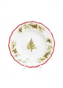 Суповая тарелка Villa Grazia Новогодняя красавица 25см, фото