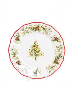 Обеденная тарелка Villa Grazia Новогодняя красавица 28см, фото