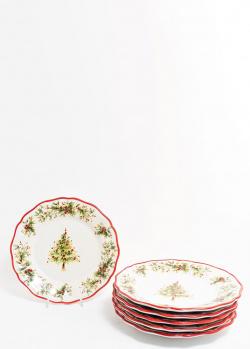 Набор обеденных тарелок Villa Grazia Новогодняя красавица 28см 6шт, фото