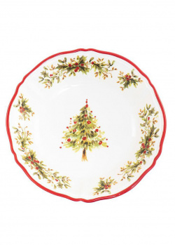 Керамический салатник Villa Grazia Новогодняя красавица 33см, фото