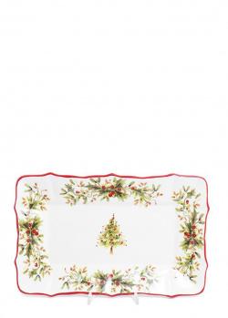Прямоугольное блюдо Villa Grazia Новогодняя красавица 35×23см, фото