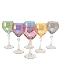 Набор разноцветных бокалов Villa Grazia для вина, фото