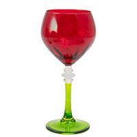 Набор красно-зеленых бокалов Villa Grazia для вина, фото