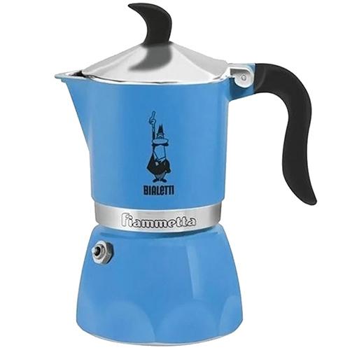 Кофеварка гейзерная Bialetti Fiammetta голубая, фото