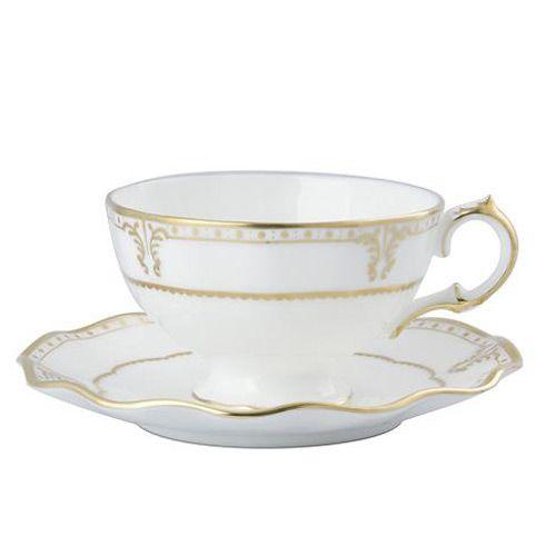 Чашка чайная с блюдцем Royal Crown Derby Elizabeth Gold, фото