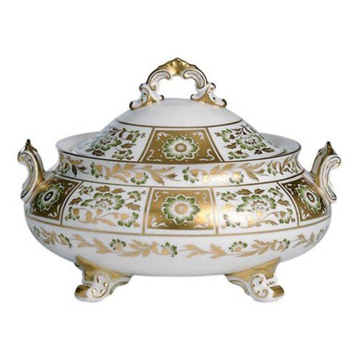 Блюдо с крышкой Royal Crown Derby Panel Green 1.9 л, фото