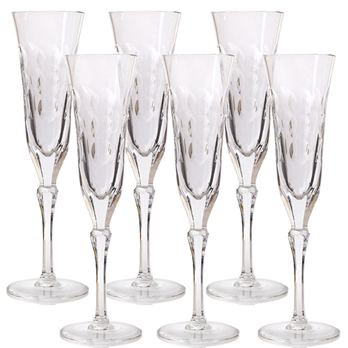 Хрустальные бокалы для шампанского Christofle Kawali, фото
