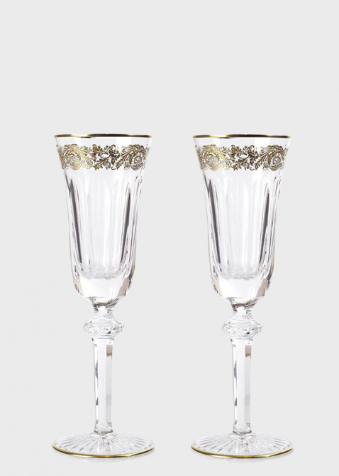Хрустальный бокал для шампанского Christofle Orangerie Or с позолотой, фото