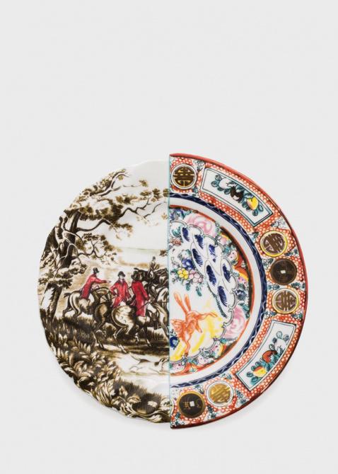 Тарелка из фарфора Seletti Hybrid Eusafia обеденная, фото