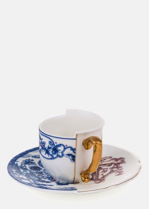Кофейная чашка Seletti Hybrid Eufemia с блюдцем, фото
