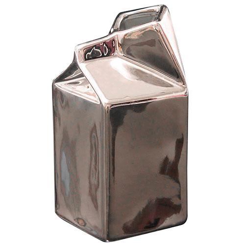 Молочник Seletti под серебро из фарфора, фото