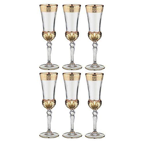 Набор бокалов для шампанского Same decorasione из хрусталя, фото