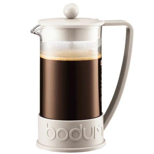 Кофейник Bodum Brazil френч-пресс белый 1л, фото