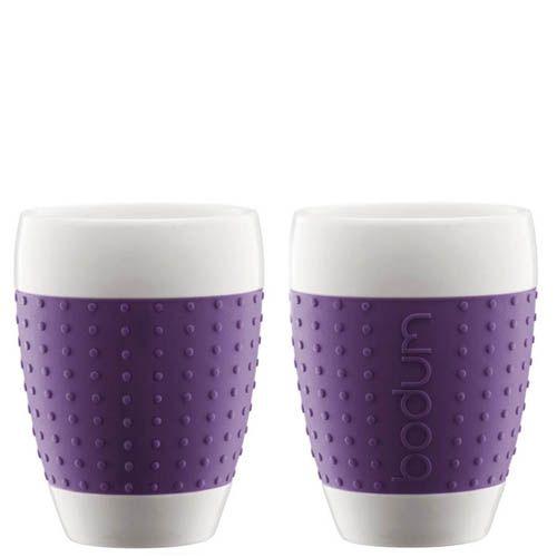 Набор из двух стаканов 0.4 л Bodum Pavina фиолетовый, фото