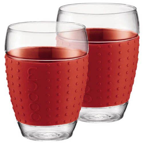 Набор из двух стаканов 0.45 л Bodum Pavina красный, фото