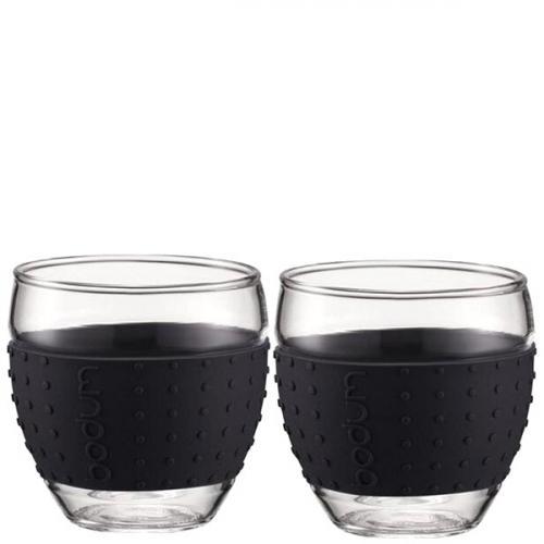 Набор чашек Bodum Pavina с силиконовыми вставками черного цвета объемом 350 мл, фото
