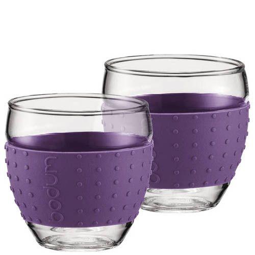 Набор из двух стаканов 0.35 л Bodum Pavina фиолетовый, фото