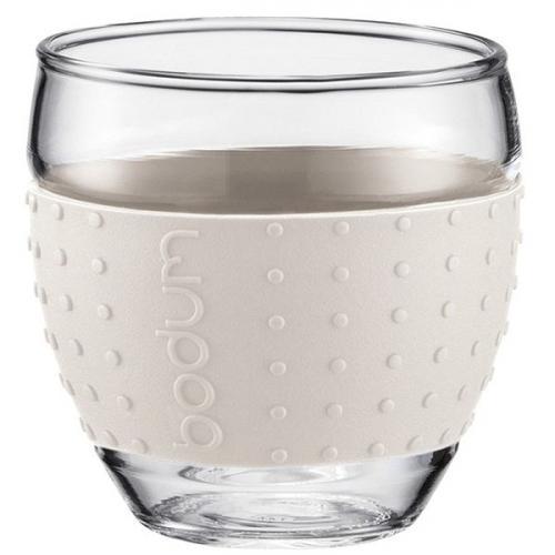 Набор чашек Bodum Pavina с силиконовыми вставками белого цвета объемом 350 мл, фото