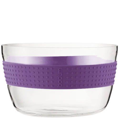 Салатник Bodum Pavina с фиолетовой оконтовкой, фото