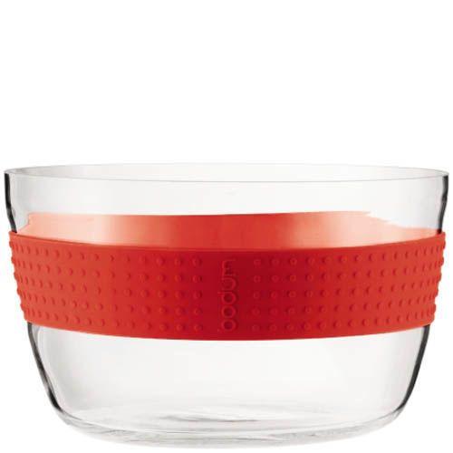 Салатник Bodum Pavina с красной оконтовкой, фото