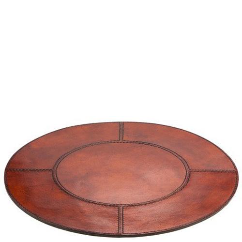 Сервировочный коврик Balmuir Winston из коричневой кожи, фото