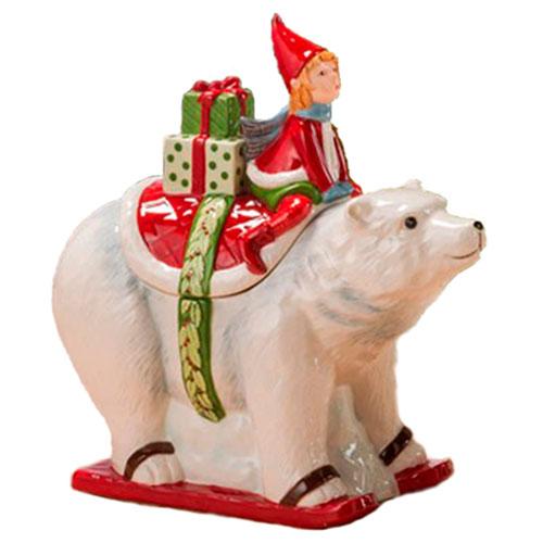 Бисквитник в форме белого медведя Palais Royal Заколдованный лес, фото