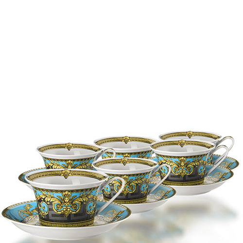 Сервиз чайный на 6 персон Rosenthal Versace Prestige Gala Bleu, фото