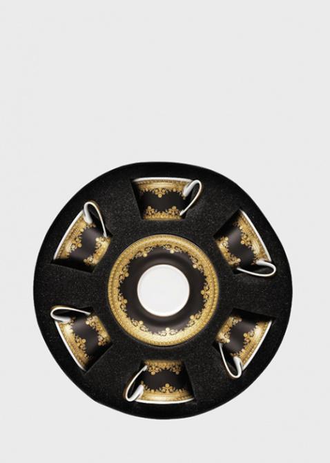Чайный сервиз 6 персон Rosenthal Versace Baroque Nero черно-золотого цвета, фото