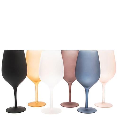 Набор матовых бокалов Villa D'este для вина 6шт, фото