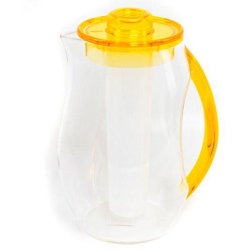 Кувшин с охладителем желтый Plastik Kuo, фото