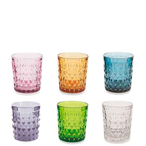 Набор разноцветных стаканов Villa d'Este 6шт, фото