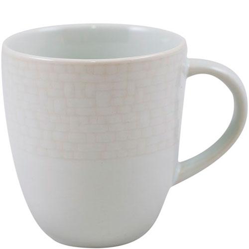 Набор чашек на 6 персон Bastide белого цвета с текстурной поверхностью, фото