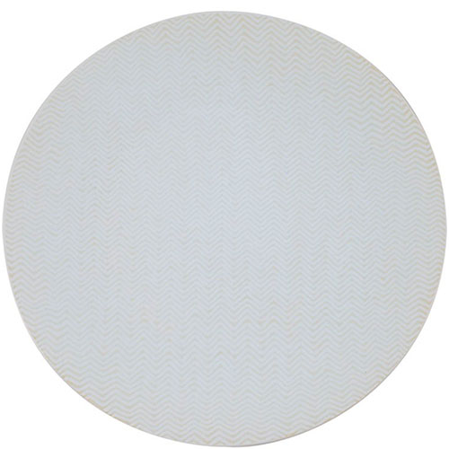Набор обеденных белых тарелок Bastide Chevron, фото