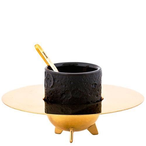 Кофейная чашка Seletti Lunar Coffee Set с блюдцем и ложкой, фото