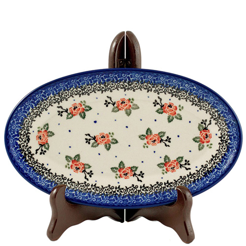 Блюдо Ceramika ArtystycznaЧайная роза овальное, фото