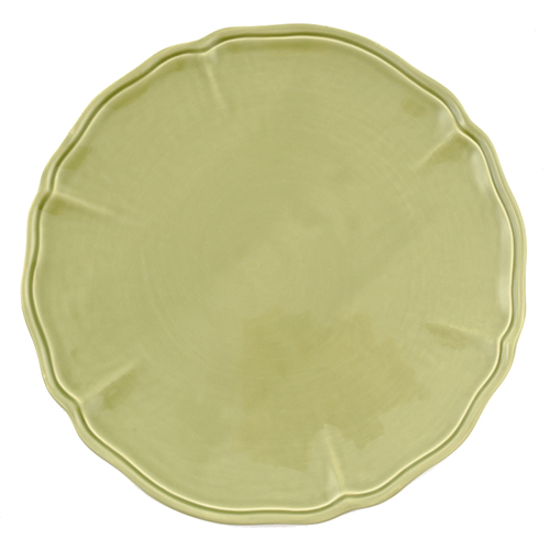 Тарелка подставная Villa Grazia салатового цвета 33см, фото