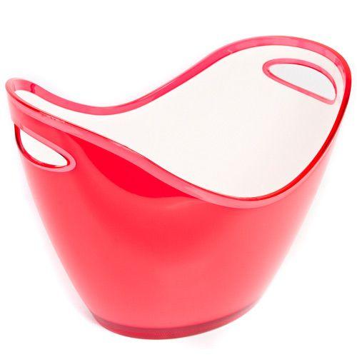 Яркая фруктовница красная Plastik Kuo, фото