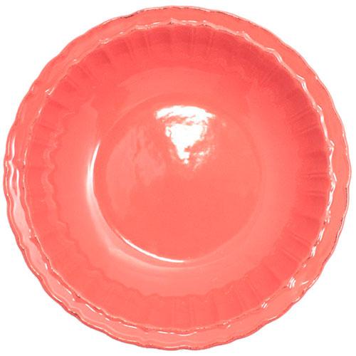 Коралловая тарелка Comtesse Milano Dalia из керамики, фото