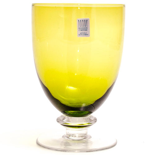 Набор бокалов для воды Comtesse Milano Tahiti зеленого цвета, фото