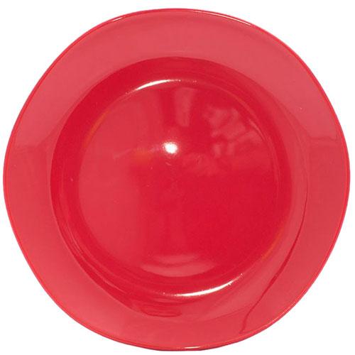 Обеденная тарелка Comtesse Milano Ritmo из красной керамики, фото