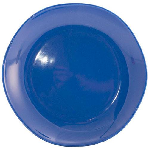 Десертная керамическая тарелка Comtesse Milano Ritmo синего цвета, фото