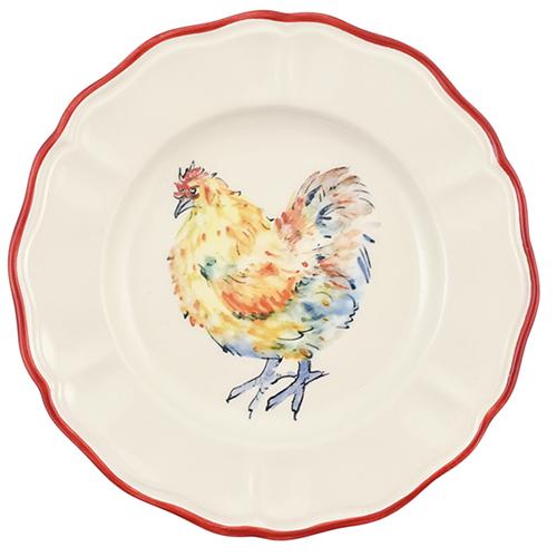 Тарелка для салата Villa Grazia Петушки 21см, фото