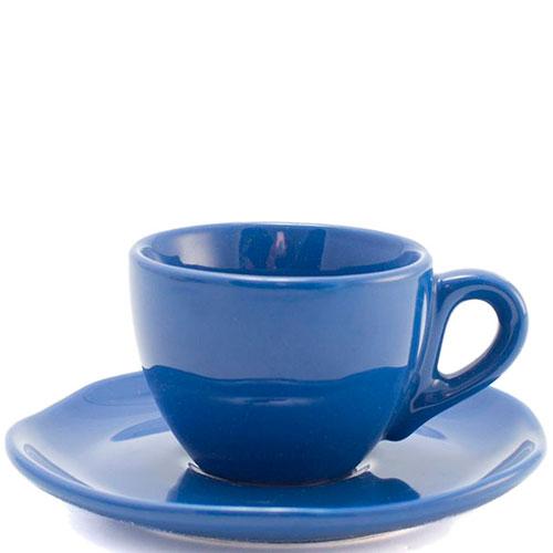 Набор кофейных чашек с блюдцами Comtesse Milano Ritmo синего цвета, фото