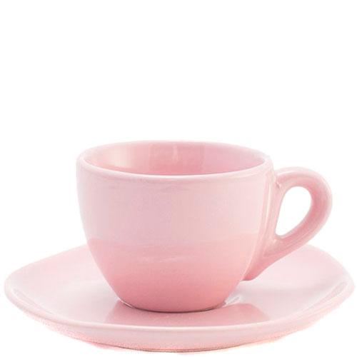 Набор кофейных чашек с блюдцами Comtesse Milano Ritmo розового цвета, фото