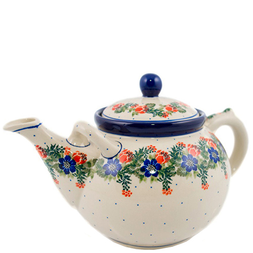 Чайник Ceramika Artystyczna большой Лесной веночек, фото