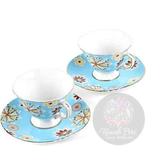 Чайный набор Pavone Антонелла на 2 персоны голубого цвета, фото