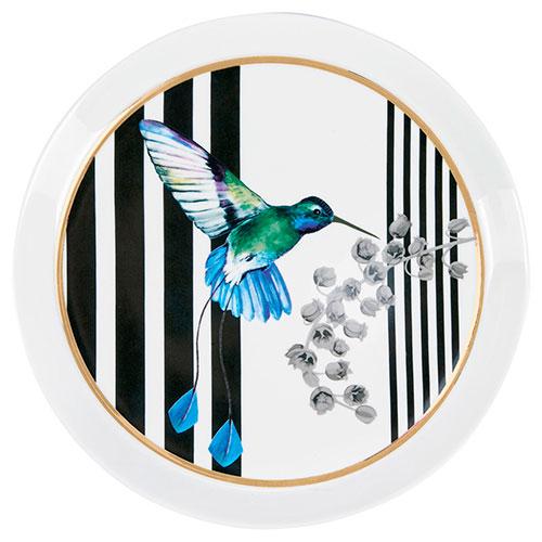Тарелка Miss Etoile с изображением колибри, фото